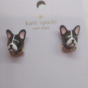 "Kate Spade New Black ""Antoine"" Dog Earrings"